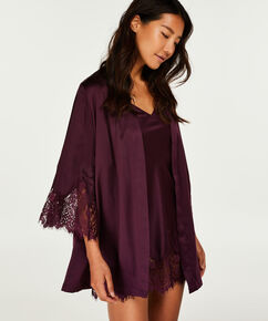 Nuisette Lace Satin Indra Petite, Pourpre