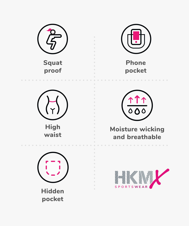 Short cycliste Marble HKMX, Blanc, main