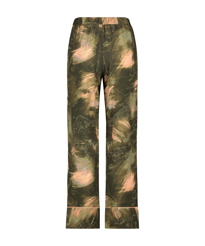 Pyjamabroek Woven, Groen, main