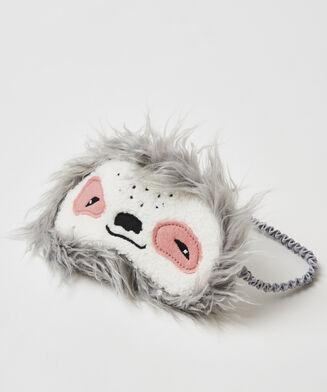 Slaapmasker Luiaard, Grijs