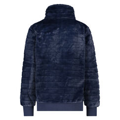 Vest Fleece Fur, Blauw