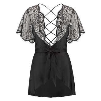 Kimono Satin Coco, Noir