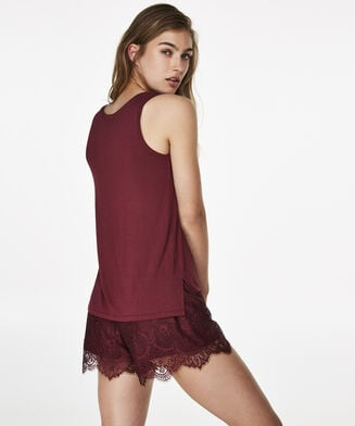 Top Jersey Lace, Rouge