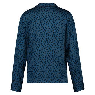 Pyjama jasje Woven, Blauw