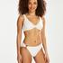 Haut de bikini Triangle Emily, Blanc
