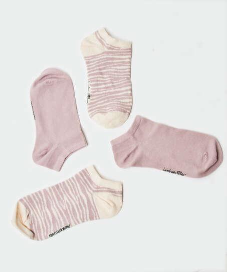 Lot de 2 paires de chaussettes en coton Trainerliners , Pourpre