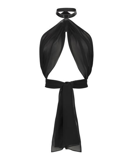 Private Haut cache-cœur, Noir
