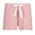 Shorts Brushed Rib Lace, Roze