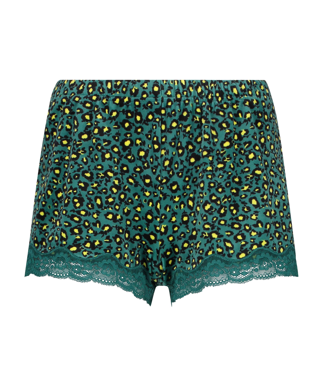 Shorts Velours Daisy Lace, Grijs, main