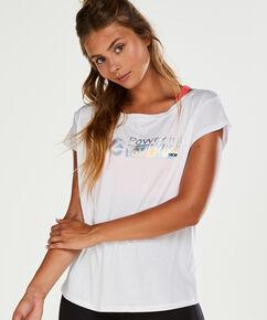 T-shirt de sport HKMX à manches courtes, Blanc