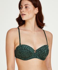 Voorgevormde push-up beugel bikinitop Tonal Leo Cup A - E, Groen