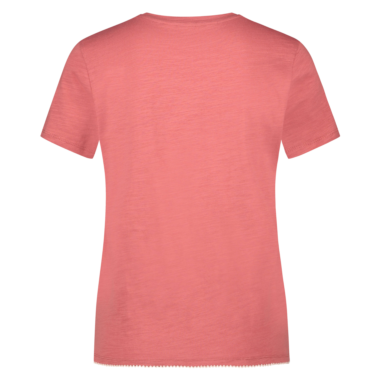 Pyjama top korte mouwen jersey, Roze, main