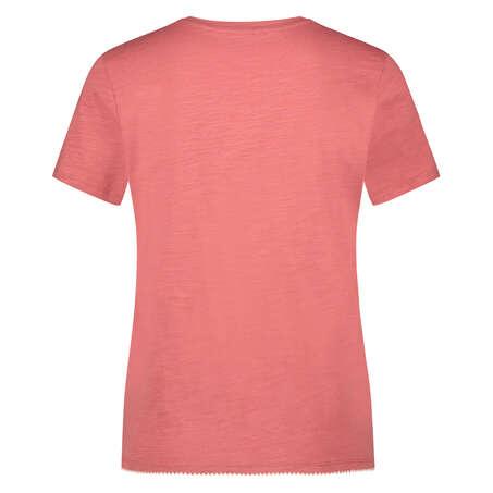 Pyjama top korte mouwen jersey, Roze