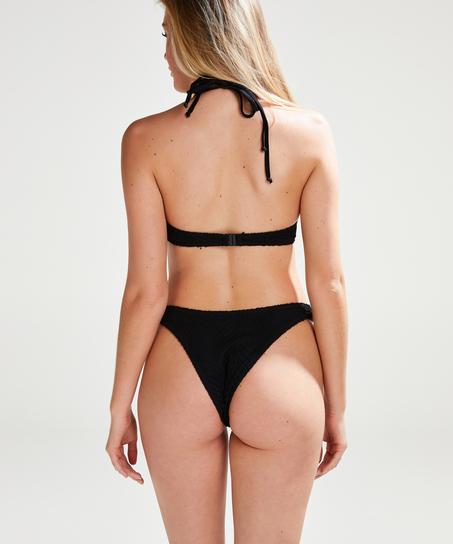 Slip de bikini Crochet, Noir
