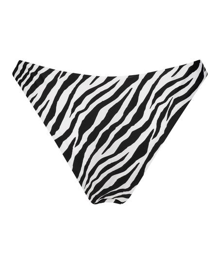 Bas de bikini rio échancré HKM x NA-KD, Blanc