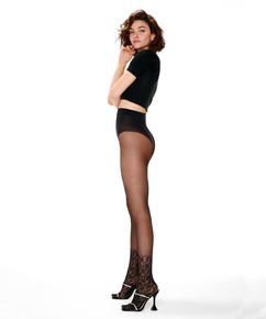 Panty kanten sok, Zwart