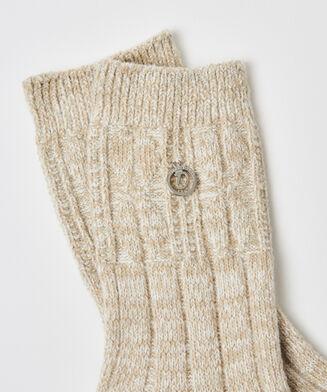 Gebreide sokken Doutzen, Wit