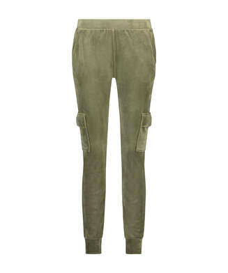 Pantalon de jogging Velours Cargo, Vert