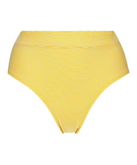 Hoog Brazilian bikinibroekje Carmel, Geel