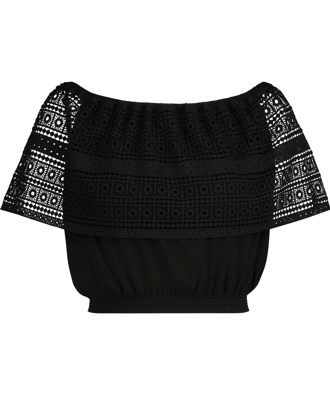 Top Crochet, Zwart, main