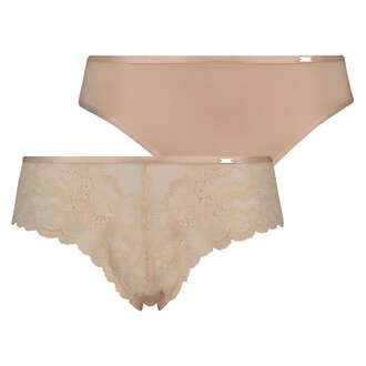 Lot de 2 slips Angie, Beige