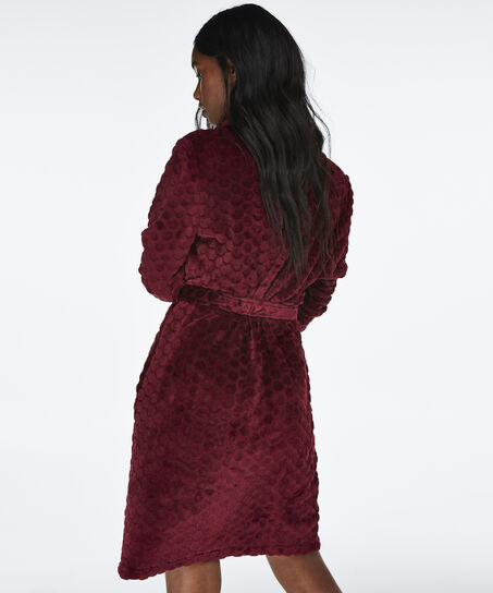 Badjas Fleece, Rood