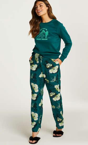 Pantalon de pyjama tissé, Gris