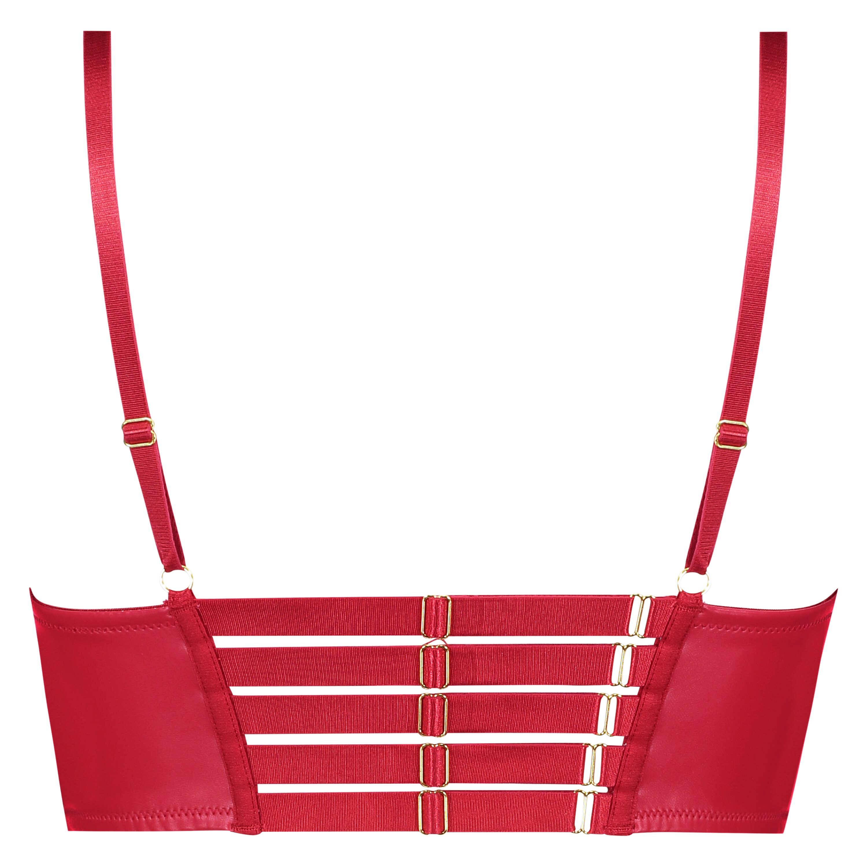 Soutien-gorge à armatures préformé longline push-up Kennedy, Rouge, main