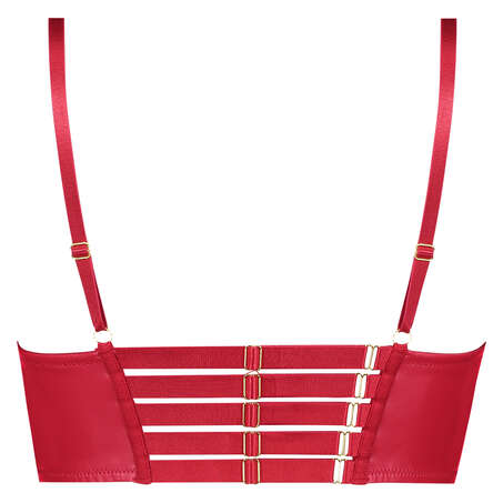Soutien-gorge à armatures préformé longline push-up Kennedy, Rouge