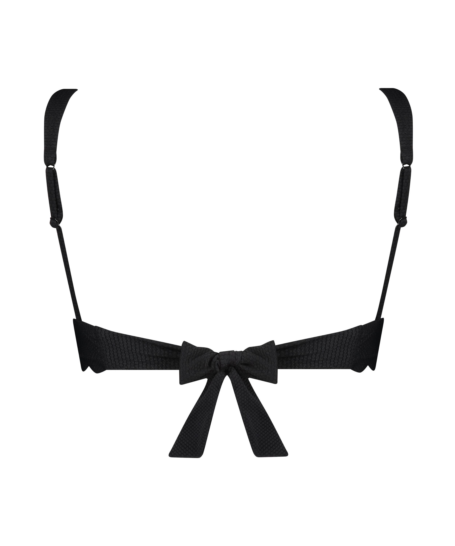 Triangle bikinitop Scallop, Zwart, main