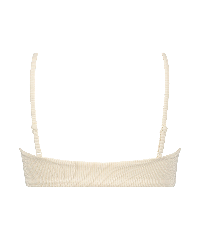 Haut de bikini court Texture HKM x NA-KD, Blanc, main
