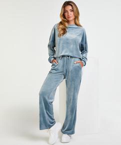 Pantalon de jogging Velours, Bleu