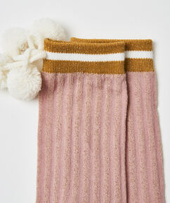 Chaussettes Cosy Lurex, Rose
