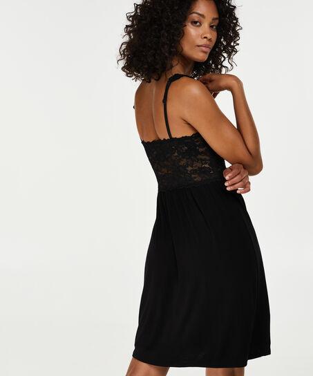 Nuisette Modal Lace, Noir