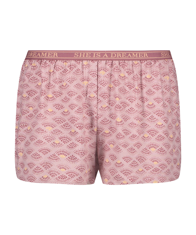 Short de pijama, Rose, main