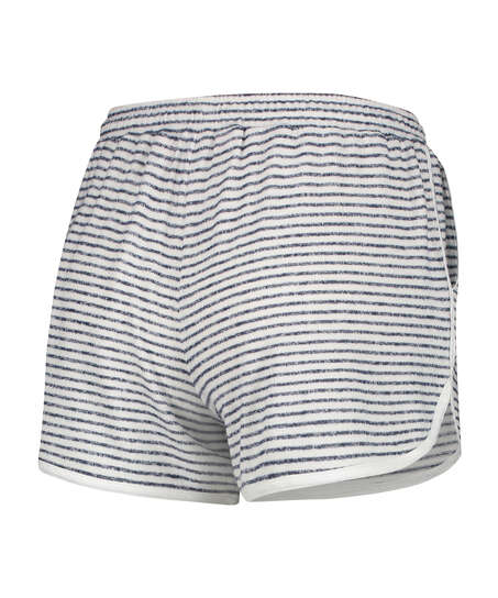 Korte pyjamabroek Brushed Stripe, Grijs