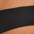 String invisible en coton, Noir