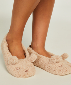 Pantoffels ballerina, Beige