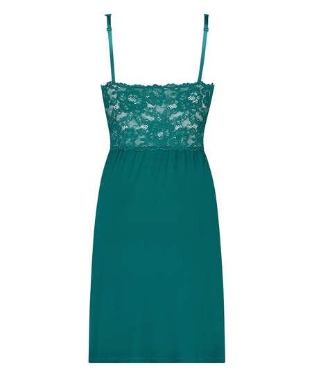 Slipdress Modal lace, Groen