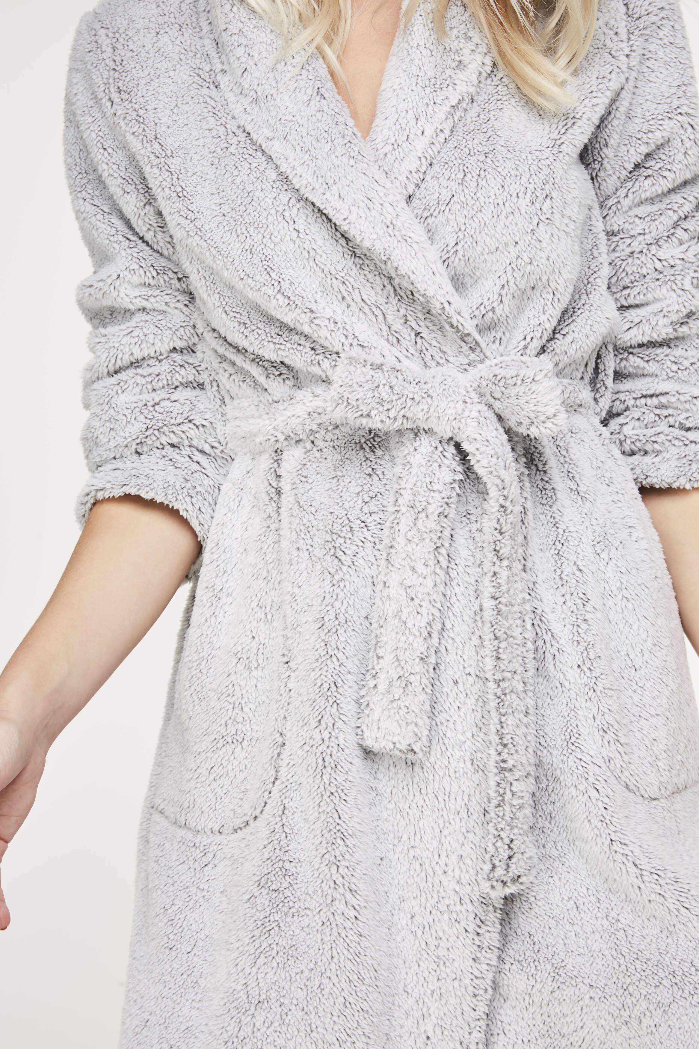 Peignoir Fleece, Gris, main
