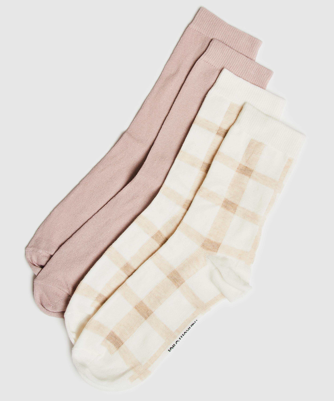 2 Paires de Chaussettes en Coton, Noir, main