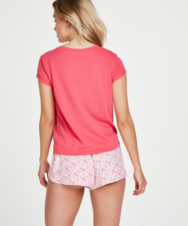 Pyjamatop korte mouwen Jersey Knot, Rood, main