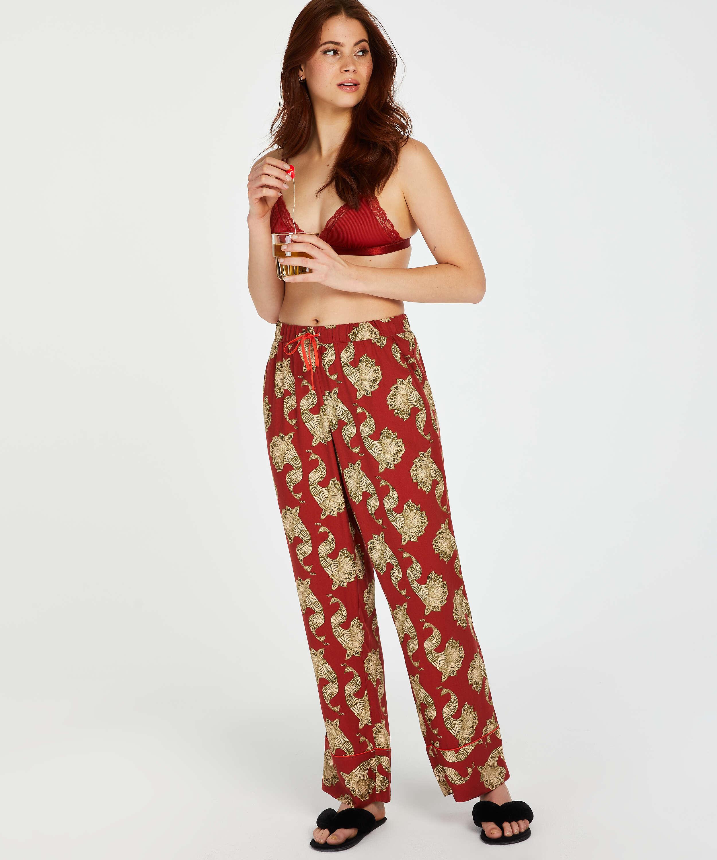 Pantalon de pyjama tissé, Rose, main