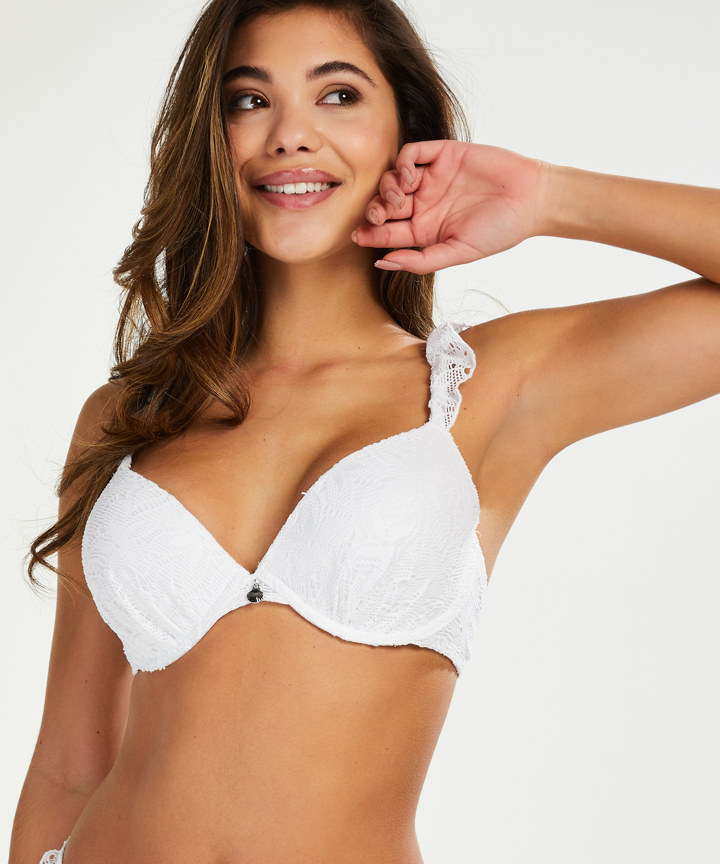 Voorgevormde beugel bikinitop Etta Crochet, Wit, main
