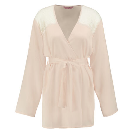 Kimono Hammered satin, Roze