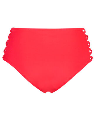 Slip de bikini taille haute Cheeky Sunset dream, Rouge