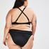 Fold over Bikinislip Sunset Dream, Zwart