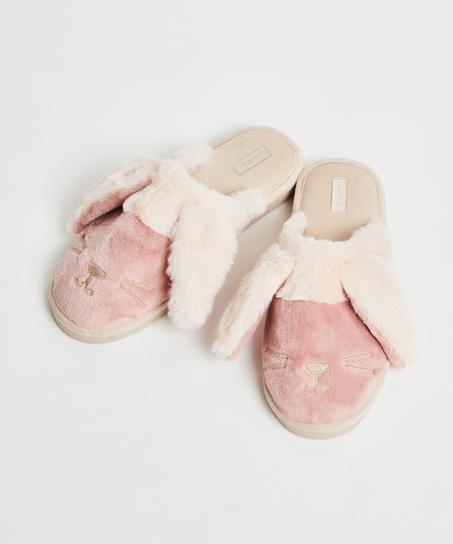 Pantoffels Cute Bunny, Roze