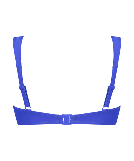 Voorgevormde beugel bikinitop Luxe Cup E +, Blauw