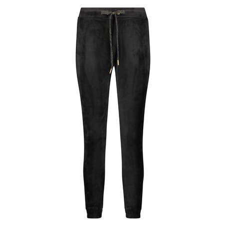 Joggingbroek Velours Lurex, Zwart